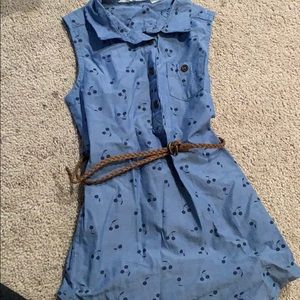 Girls HM belted dress size 2-3